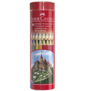 36-pieces Colour Pencils in Round Tin