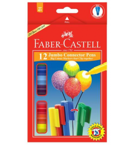 12-Piece Jumbo Connector Pen Colouring Set