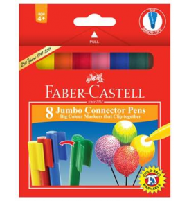 8-Piece Jumbo Connector Pen Colouring Set