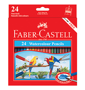 24-pieces Watercolour Pencils Set