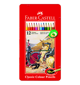 12-pieces Colour Pencils in Tin Case