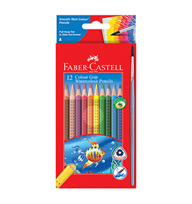 12-pieces Watercolour Grip Pencils