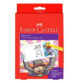 10-Pieces Connector Pen Colouring Set with Magic Cards and a Frame