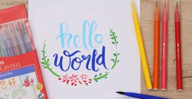 Calligraphy Brush Pens- Brush Lettering