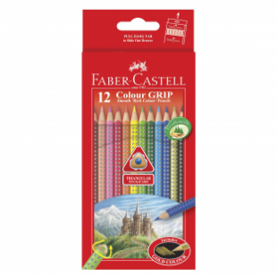 12-pieces Colour Grip Pencils