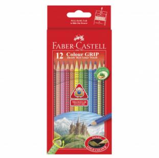 12-pieces Colour Grip Pencils