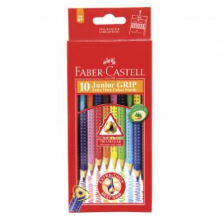 10-pieces Junior Grip Colour Pencil