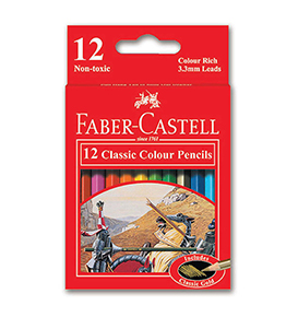 12-Pieces Classic Colour Pencil, Short