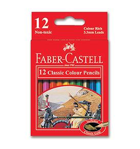 12-Pieces Classic Colour Pencil, Short