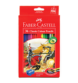 36-Pieces Classic Coloured Pencil with Sharpener