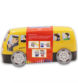 20-Pieces Connector Pen Colouring Set in School Bus