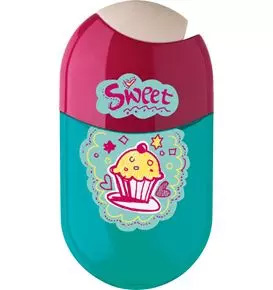 2 Hole Sharpener & Eraser, Cupcake