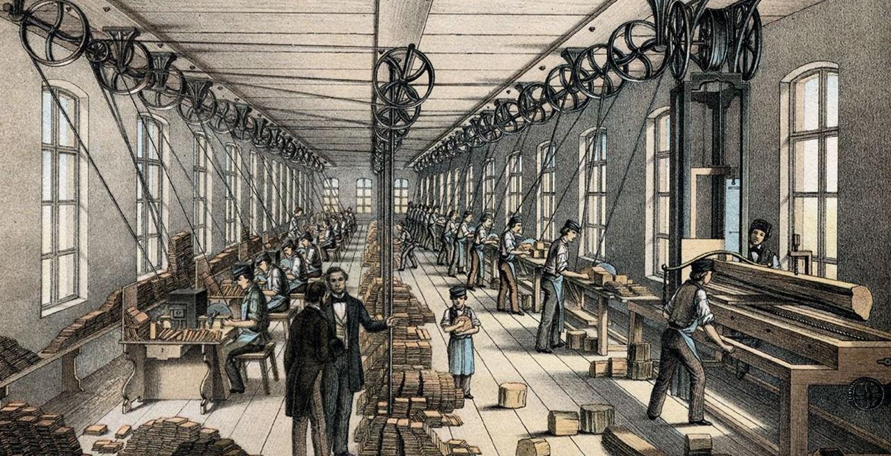 Cutting the cedar blocks, 1861