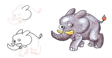 How to draw animals from numbers basic shape