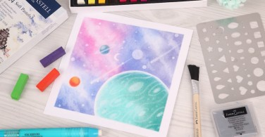 How to draw Space with Soft Pastel Art