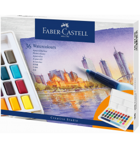Watercolours in pans Set, 36 colours