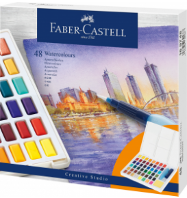 Watercolours in pans Set, 48 colours