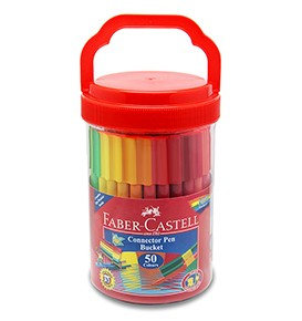 50-Pieces Connector Pen Colouring Set in Bucket