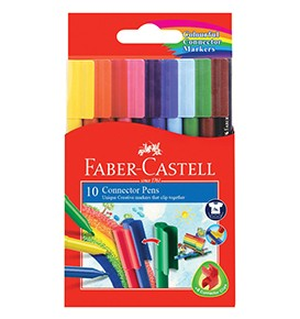 10-Pieces Connector Pen Colouring Set