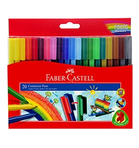 20-Pieces Connector Pen Colouring Set