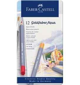 12-pieces Goldfaber Aqua Watercolour Pencil Set