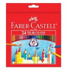 24-Pieces Triangular Coloured Pencil