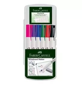 6-Pieces Slim Whiteboard Marker, Assorted