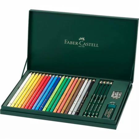 26-Pieces Polychromos Colour Pencil Gift Set, Mixed Media
