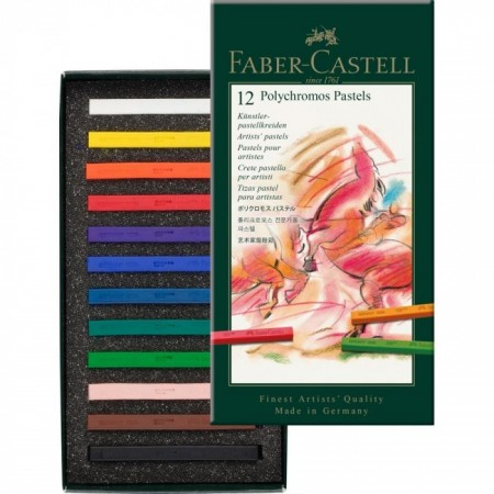 12-Pieces Polychromos Artists' Pastel Set