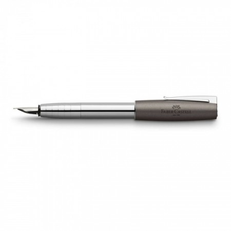 Loom Fountain Pen, Medium, Metallic Grey