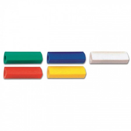 5-Pieces PVC Free Eraser Cap, Assorted Colours